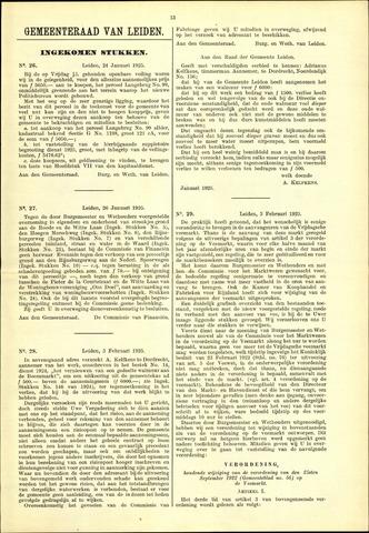 Handelingen van de Raad 1925-01-24