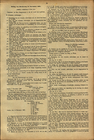 Handelingen van de Raad 1887-11-17