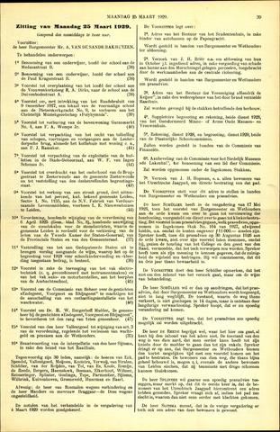 Handelingen van de Raad 1929-03-25