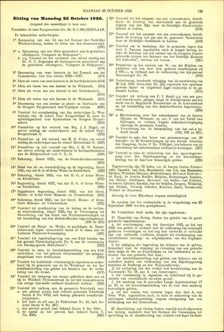 Handelingen van de Raad 1926-10-25