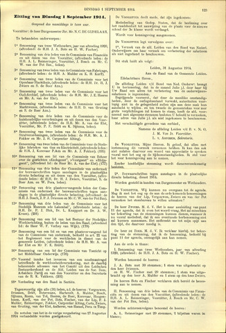 Handelingen van de Raad 1914-09-01