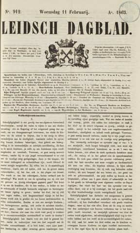 Leidsch Dagblad 1863-02-11