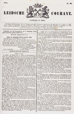 Leydse Courant 1876-04-15