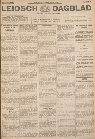 Leidsch Dagblad 1928-02-29