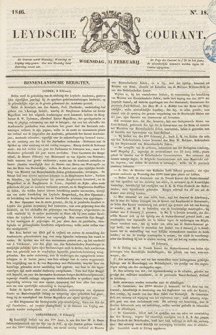 Leydse Courant 1846-02-11