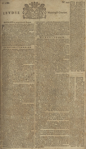 Leydse Courant 1760-09-29