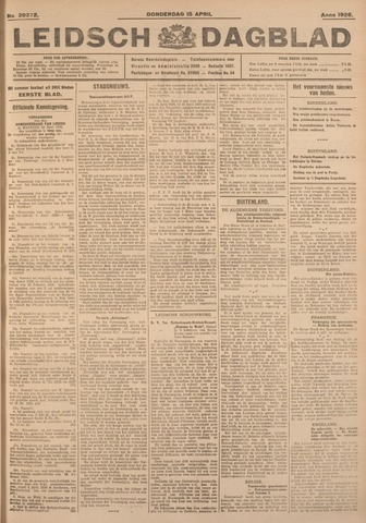 Leidsch Dagblad 1926-04-15