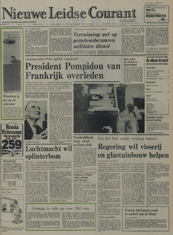 Nieuwe Leidsche Courant 1974-04-03