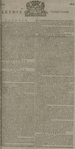 Leydse Courant 1729-01-14