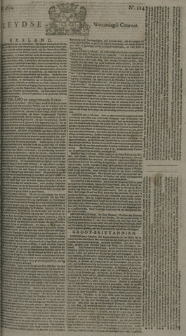 Leydse Courant 1744-10-14