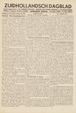 Zuidhollandsch Dagblad 1944-11-21