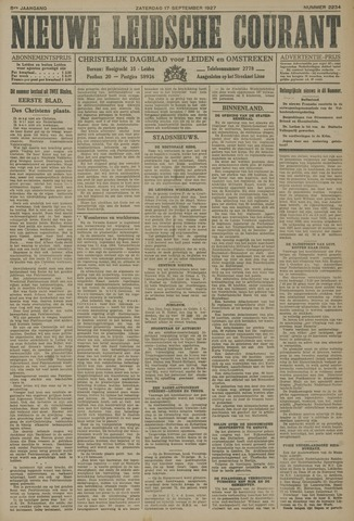Nieuwe Leidsche Courant 1927-09-17