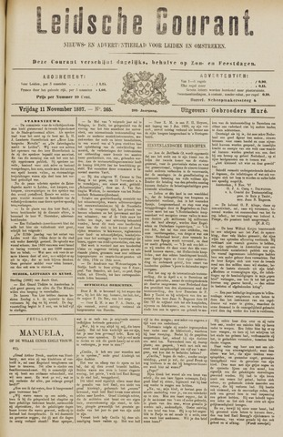 Leydse Courant 1887-11-11