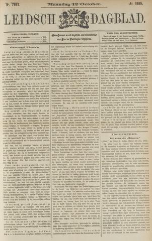 Leidsch Dagblad 1885-10-12