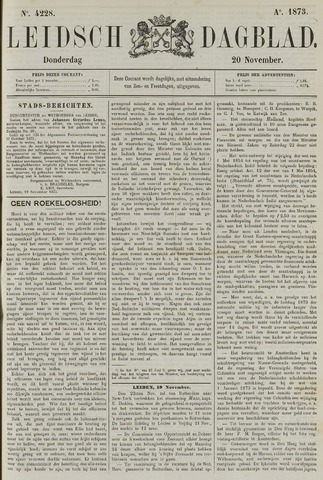 Leidsch Dagblad 1873-11-20