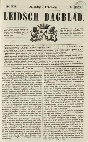 Leidsch Dagblad 1863-02-07
