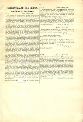 Handelingen van de Raad 1909-03-05