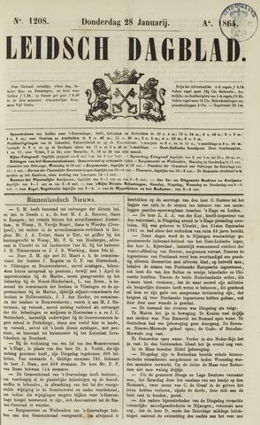 Leidsch Dagblad 1864-01-28