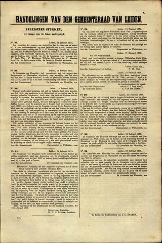 Handelingen van de Raad 1875-02-15