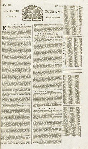 Leydse Courant 1826-10-09