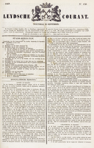 Leydse Courant 1869-09-22