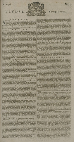 Leydse Courant 1736-04-27