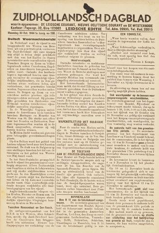 Zuidhollandsch Dagblad 1944-10-30