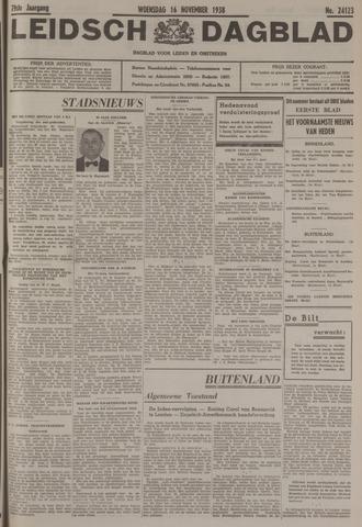 Leidsch Dagblad 1938-11-16