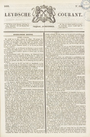 Leydse Courant 1852-12-10