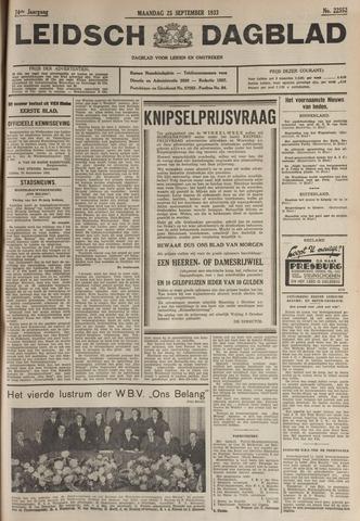 Leidsch Dagblad 1933-09-25
