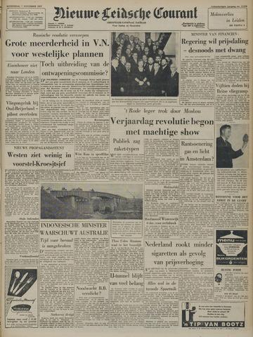 Nieuwe Leidsche Courant 1957-11-07