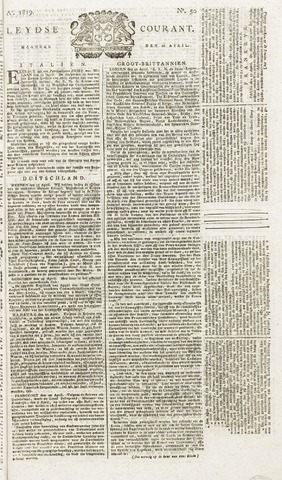 Leydse Courant 1819-04-26