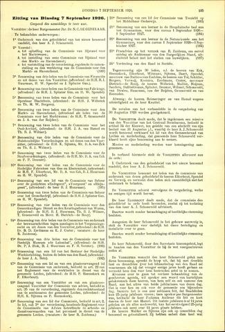 Handelingen van de Raad 1926-09-07