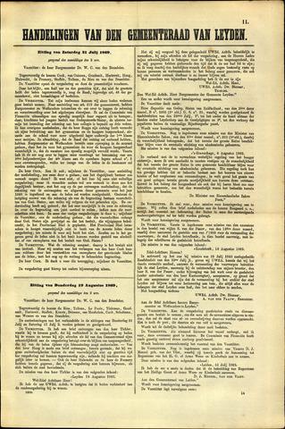 Handelingen van de Raad 1869-07-31