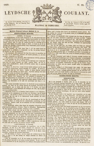 Leydse Courant 1860-02-20
