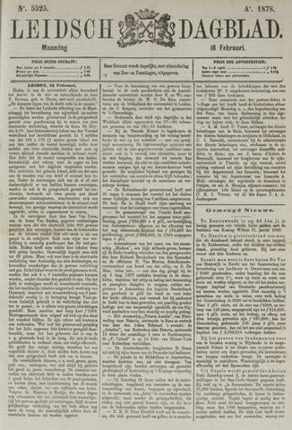 Leidsch Dagblad 1878-02-18