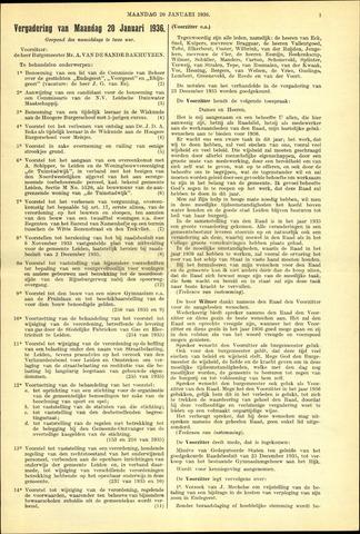 Handelingen van de Raad 1936-01-20