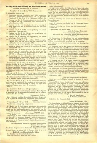 Handelingen van de Raad 1901-02-14