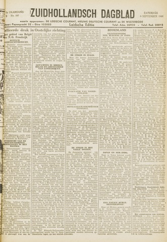 Zuidhollandsch Dagblad 1944-09-09