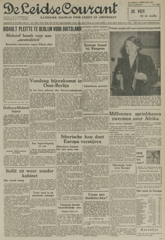 Leidse Courant 1954-02-01