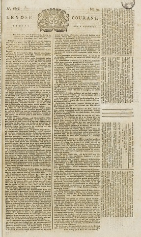 Leydse Courant 1819-08-06