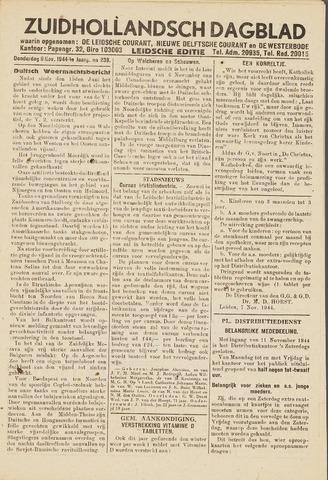 Zuidhollandsch Dagblad 1944-11-09