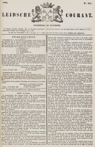 Leydse Courant 1884-11-20