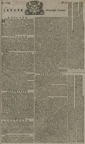 Leydse Courant 1749-01-27