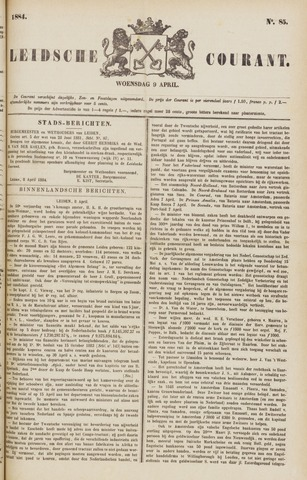 Leydse Courant 1884-04-09