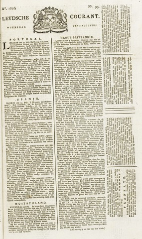 Leydse Courant 1826-08-09