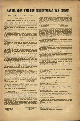 Handelingen van de Raad 1872-02-15