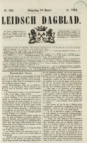 Leidsch Dagblad 1863-03-10