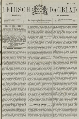 Leidsch Dagblad 1873-11-27