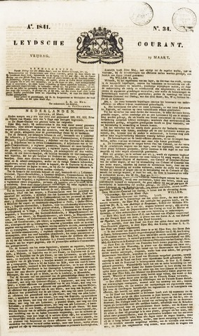 Leydse Courant 1841-03-19